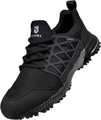 SUADEX Safety Shoes Work Shoes Steel Toe Cap Trainers Mens Women Lightweight Comfortable Breathable
