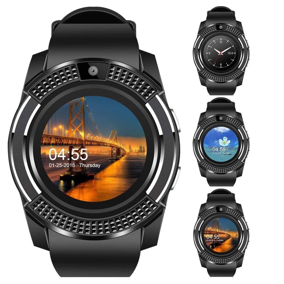 9ff004f6637 JSTBUY Original V8 Round Touchscreen Bluetooth Smartwatch Compatible ...