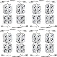 Électrodes pour électrostimulation TENS EMS - 16 électrodes 40 x 40 mm - pour électrostimulateurs TENS et EMS avec connexion à fil 2 mm