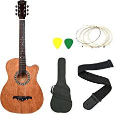 Zabel ZBTR07 Acoustic Guitar With Truss Rod Combo With Bag, Strap, One Pack Strings And 3 Picks