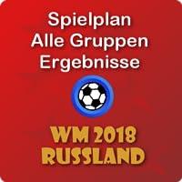 Fußball WM Russland, Alles Spiele, Ergebnisse, Gruppen