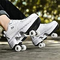 DHTOMC Pattini in Linea, Scarpe Multiuso 2 in 1, Stivali con Pattini A Rotelle Regolabili,Skateboard Formatori…
