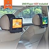 WANPOOL Support Appuie-tête Voiture Universel pour Lecteurs DVD Portables à écran Inclinable de 7 à 10 Pouces - 2 Pièces…