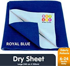 Bey Bee Waterproof Bed Protector Baby Care Sheet, Large, Royal Blue (140 cm x 100 cm)