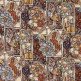 Fabulous Fabrics Kleiderstoff Schmetterling – braun —