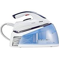 UFESA PL2450 Compact-Centrale, 2400 W, Pression 6 Bar, Réservoir 1,5 L, Coup de Vapeur 350 g, Blanc/Bleu Ciel