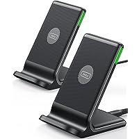 INIU Wireless Charger [2 Pack], 15W Schnellladeständer Kabellose Ladestation Qi-Zertifiziert Ladegerät Kompatibel mit…