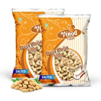 VINOD FOOD Roasted Peanuts Salted 400GM Each (Pack of 2) Nitrogen Packing, Fresh & Whole Seeds Salted Peanuts, Gives…