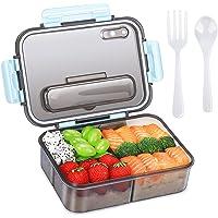 Boîte à bento pour adultes et enfants, boîte à lunch en plastique à emporter et boîte de rangement pour aliments, style…