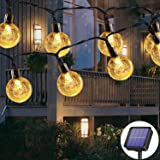 Guirlande lumineuse solaire d'extérieur 50 LED 7m 8 modes solaires, étanche, pour extérieur/intérieur, éclairage pour jardin,