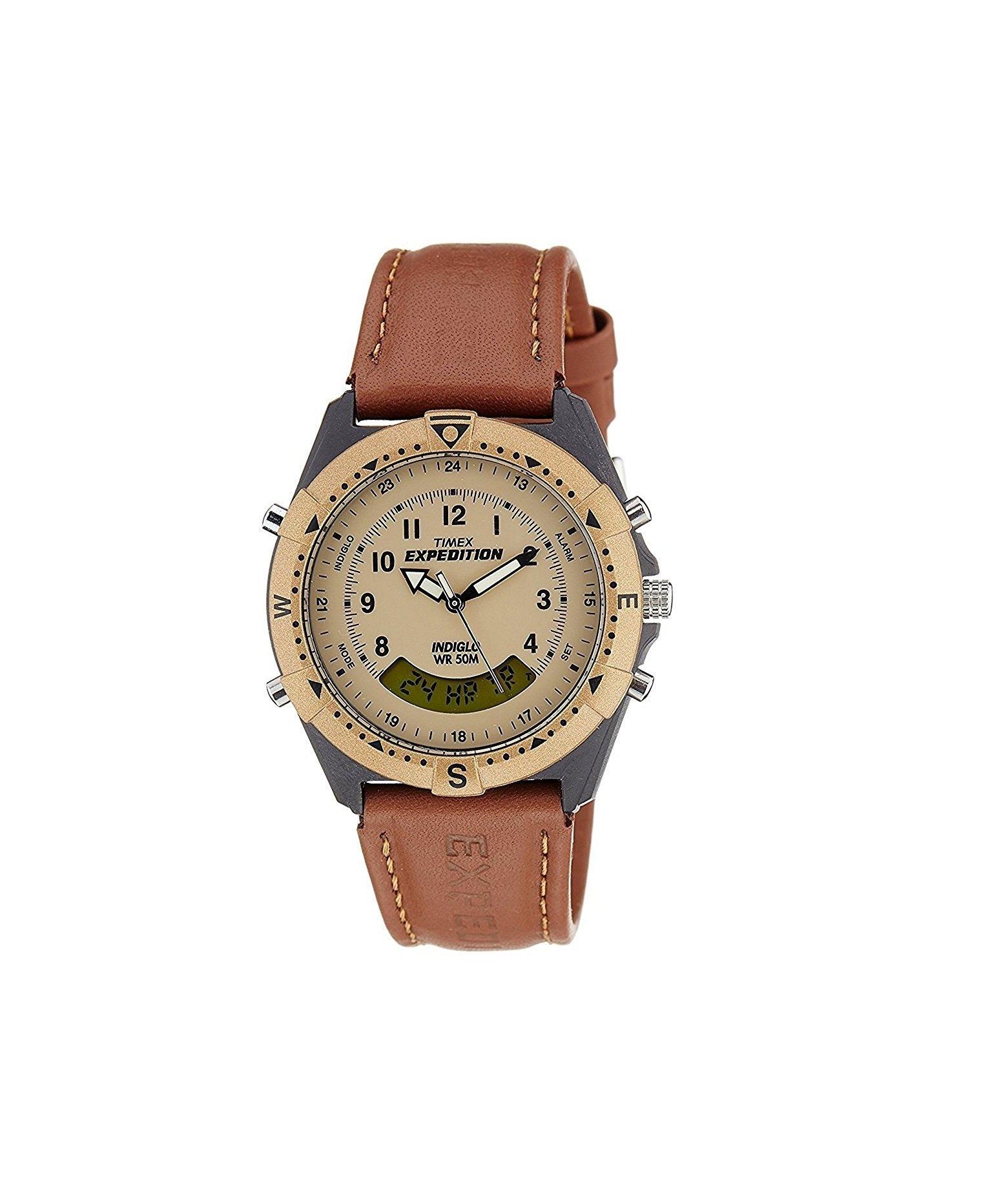 Timex Men's Expedition Analogdigital Beige Dial Watch