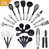 KRONENKRAFT Set d'accessoires de Cuisine de 26 pièces, Set de Cuisson,Ensemble d' ustensiles de Cuisine - pour Cuisiner…