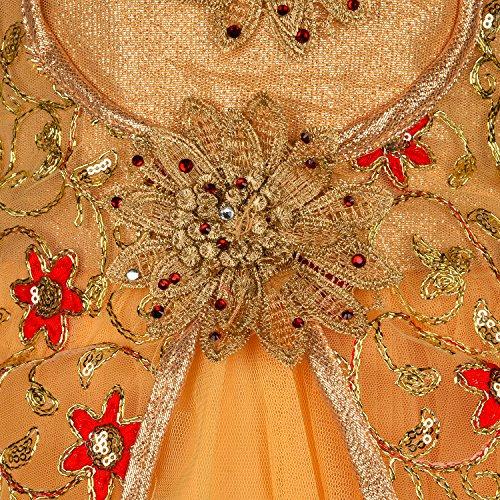 Wish Karo Baby Girls Long Frock Party wear Dress DN LF54rd-7-8 yrs