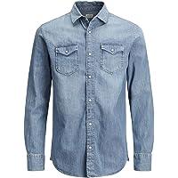 JACK & JONES Jjesheridan Shirt L/S Camicia in Jeans Uomo