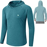 donhobo Men's Running Long Sleeve Top Hoodie T-Shirt with Thumb Hole,UPF 50+ Sun Protect Tops Breathable Quick Dry Gym…