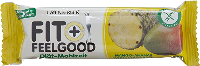 Layenberger Fit+Feelgood Mahlzeitenersatz-Riegel Mango-Ananas, 15er Pack (15 x 57 g)