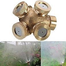 Futaba 4 Hole Brass Spray Misting Nozzle Gardening Sprinklers - Female/ Internal Thread