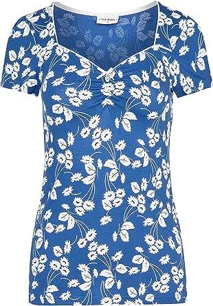 Vive Maria Fleur d'Avignon - Maglietta da uomo, colore: Blu
