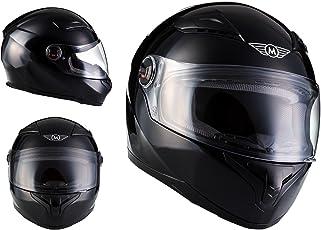 MOTO X86 Gloss Black · Scooter-Helm Cruiser Motorrad-Helm Roller-Helm Sport Integral-Helm Helmet Sturz-Helm Urban · ECE zertifiziert · mit Visier · inkl. Stofftragetasche · Schwarz · XXL (63-64cm)