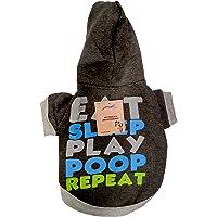 Pets Empire Eat Sleep Play Poop Repeat Dog Coats Chihuahua Clothes Sweatshirt Pet Puppy Cat Jacket (18 Inch, Dark Grey)