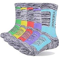 YUEDGE Women's 5 Pairs Wicking Breathable Cushion Anti Blister Casual Crew Socks Walking Athletic Socks Multi…