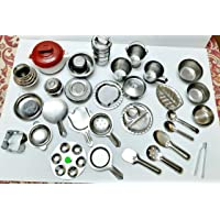 eshwarshop ® Stainless Steel Children Kitchen Toys Miniature Cooking Set- Pact of 30