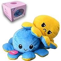 KPRICE Peluche Poulpe Réversible Octopus Pieuvre Humeur, Jouets Emotion Double Face, Poupée Animaux Douce, Poupon pour…
