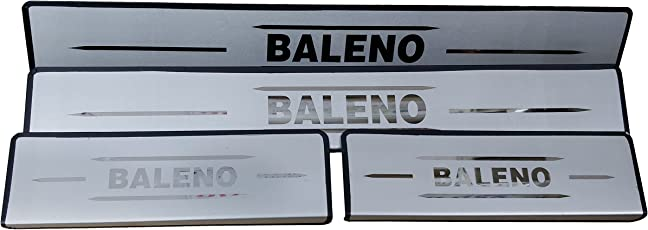 AutoPop Stainless Steel Non-LED Footstep Door Sill Plate for Maruti Suzuki New Baleno