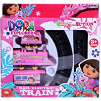 NW Dora The Explorer Train Set Toy with Train Engine, and Rail Tracks for Your Kid to Assemble
