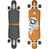 Apollo Longboard, Komplettboard mit Deck aus Bambus & Fiberglas, High-End Board mit ABEC 9 Kugellager, Flex 2 Longboards…