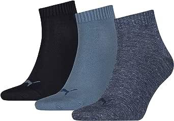 Puma Unisex Quarter Plain Socks (3 Pair Pack)