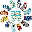 FUTURE FOUNDER 12er-pack Baby ABS Socken, Anti Rutsch Socken für 12-36 Monate Baby Mädchen und jungen