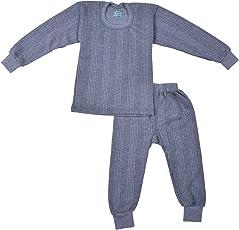 Kuchipoo Unisex Regular Fit Thermal Top and Pyjama Set
