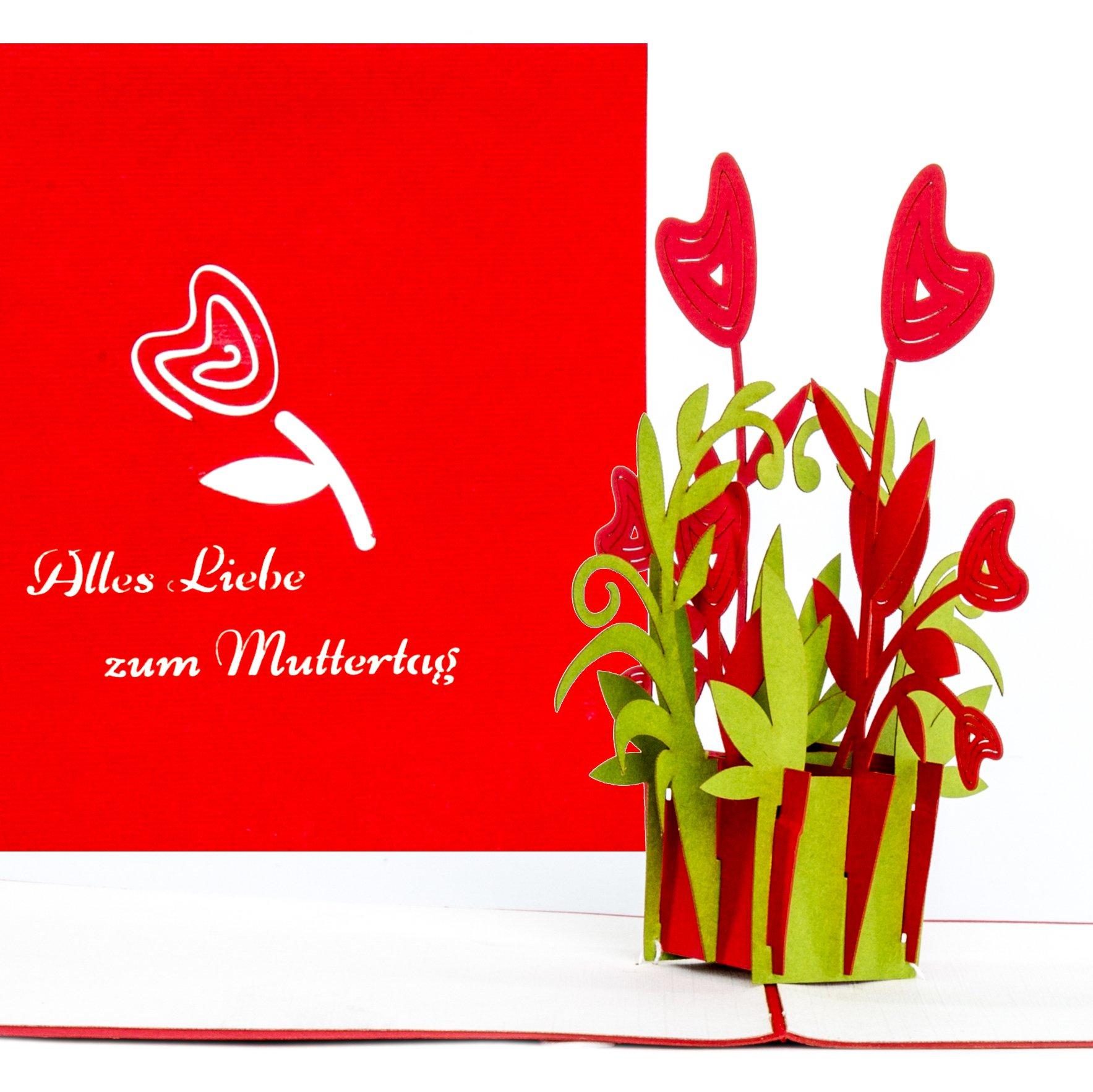 Muttertag Karte.3d Pop Up Karte Muttertagskarte Alles Liebe Zum Muttertag Grusskartenkaufen De