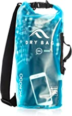 New acrodo Wasserdicht Dry Bag transparent 10Liter Floating für Wassersport, Camping, und Kayaking mit Schultergurt–hält Kleidung und Elektronik geschützt