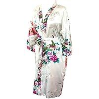CCcollections Kimono Robe Longue 16 Couleurs Premium Paon Demoiselle d'Honneur Nuptiale Womens Cadeau
