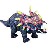ThinkGizmos Jouet du Dinosaure Qui Marche TG636 – Triceratops avec des Incroyables Sons de Rugissement Ainsi Que des lumières & Mouvement (Marque déposée)