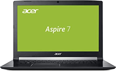 Acer Aspire 7 (A717-72G-76XN) 43,9 cm (17,3 Zoll Full-HD IPS Matt) Notebook (Intel Core i7-8750H, 16GB RAM, 256GB PCIe SSD + 1000 GB HDD, GeForce GTX 1060, Win 10) Schwarz