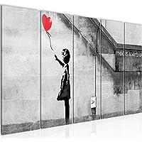 Bilder Banksy - Ballon Girl Wandbild 200 x 80 cm Vlies - Leinwand Bild XXL Format Wandbilder Wohnzimmer Wohnung Deko…
