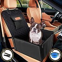 Looxmeer Hunde Autositz für Kleine Mittlere Hunde, Vordersitz & Rückbank Hundesitz Auto mit Sicherheitsgurt und…