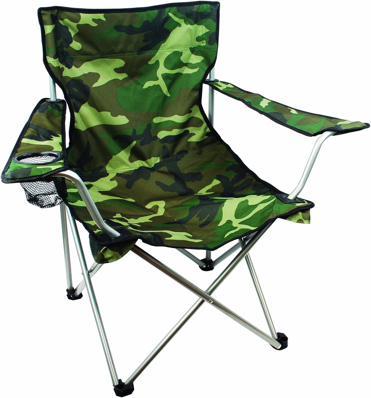 Highlander Folding Camp Chair Lightweight Durable Outdoor Seat Perfect For Camping Festivals Garden Caravan Trips Fishing Beach