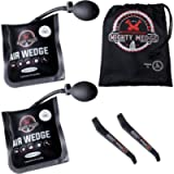 MIGHTYWEDGE Air Pump Wedge 5 Piece Kit - Inflatable Lifter Tool Each for Car, Door, Window, Shower Fittings - 2 Shims, 2…