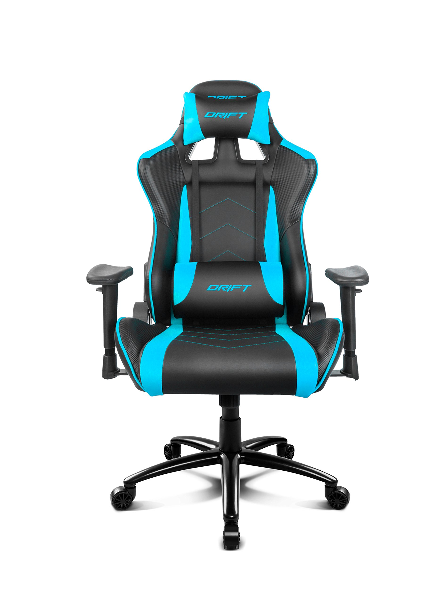 Drift DR150BL – Silla Gaming Profesional, (Poilipiel Alta Calidad, Ergonómica), Color Negro/Azul
