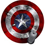 Golden Feather Anti Skid Marvel Avengers Super Heroes Designer Mouse pad for laptops and Computers Gaming Circle…