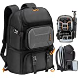 TARION Camera Backpack, Waterproof Camera Bag with 15'' Laptop Compartment, Professional Photography Backpack Large…