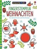 Usborne Minis - Fingerstempeln: Weihnachten: mit Stempelkissen und Anleitungen