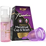 WOW Freedom Reusable Menstrual Cup and Wash Post Childbirth - Large (Above 30 Years)