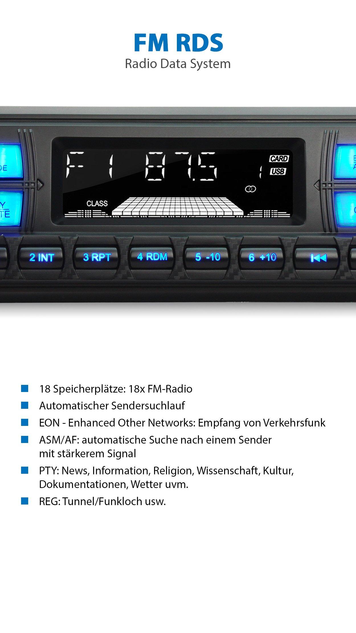 XOMAX-XM-RSU255BT-Autoradio-mit-Bluetooth-Freisprecheinrichtung-RDS-FM-Radio-Tuner-3-Farben-einstellbar-USB-SD-MP3-AUX-IN-1-DIN