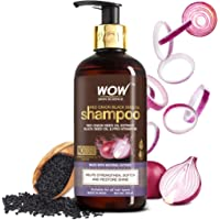 WOW Skin Science Onion Shampoo With Red Onion Seed Oil Extract, Black Seed Oil & Pro-Vitamin B5 - No Parabens, Sulphates…