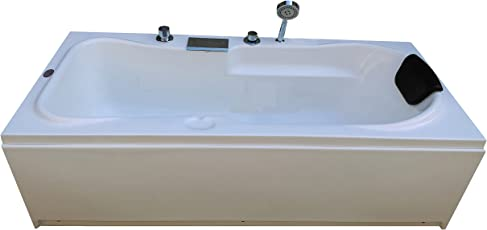 MADONNA Rex Acrylic Bath Tub with Front Panel, Side Panel and Filler System - White